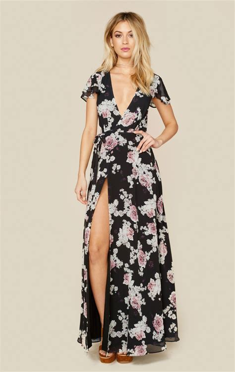 Maxi Flowery Dress rosa floral maxi dress floral maxi dress floral maxi