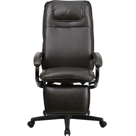 Office Chairs That Recline by Reclining High Back Executive Office Swivel Chair Brown Ebay