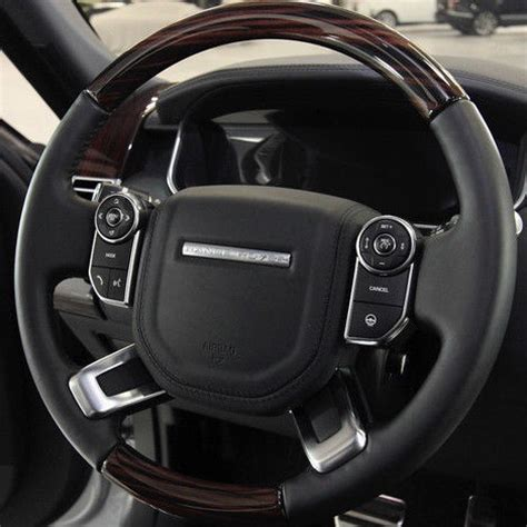 land rover steering wheel range rover l405 2013 ebony macassar wood leather