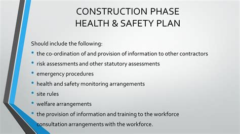 construction health and safety plan template construction health and safety plan template