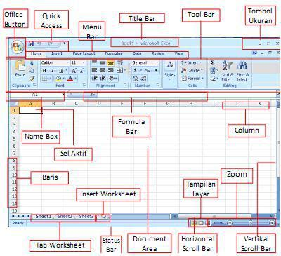 fungsi layout view world of ict mengenal microsoft excel 2007