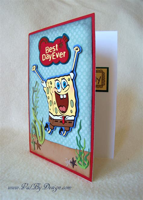 Spongebob Birthday Card Birthday Card Idea Spongebob Cricut Cartridge