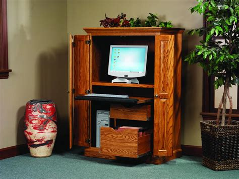 Locking Bathroom Cabinet - amish heirwood computer armoire desk amish computer armoires 7339