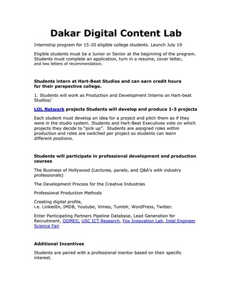 Digital Content Producer Cover Letter by Dakar Digital Content Lab By Kevin Clark Issuu