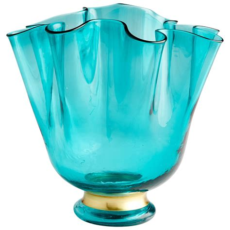 Turquoise Vase by Mervine Turquoise Blue Small Vase Cyan Design Vases Vases