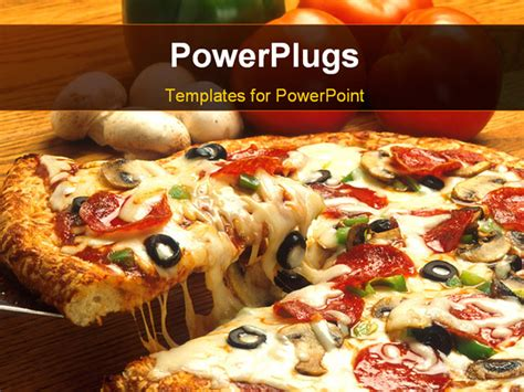 pizza powerpoint template crunchy pizza and topping up powerpoint