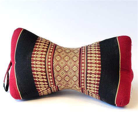 Thai Pillow by Thai Triangle Cushion Neck Pillow Shape Flower Black