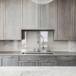 Grey Wash Kitchen Cabinets by Gray Quartz Countertops Design Ideas