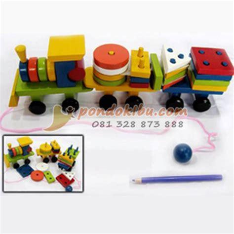 Truck Geometri Bentuk Mainan Edukasi Edukatif Anak Kayu Murah Sni mainan anak edukatif kereta geometri pondok ibu