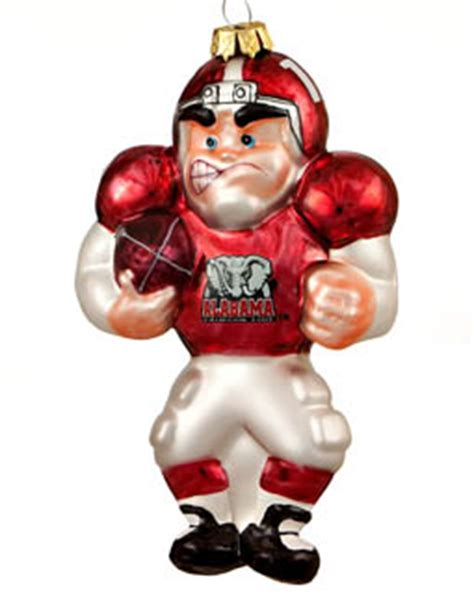 alabama football player personalized ornament