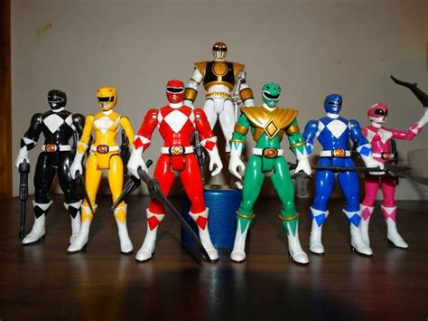 Power Ranger Set 4 Original mighty morphin power rangers 2010 figures set 4 25 power rangers wishlist