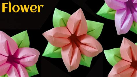 Origami 4 Petal Flower - beautiful origami paper quot four 4 petals flower quot