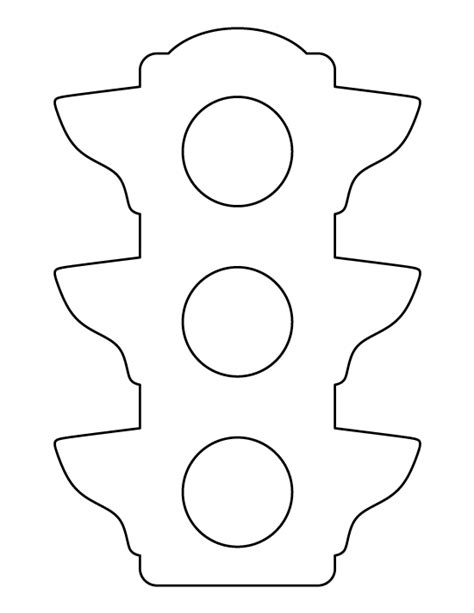 Traffic Light Pattern Use The Printable Outline For Traffic Light Template