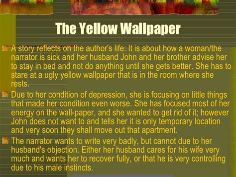 Essay On The Yellow Wallpaper Symbolism by The Yellow Wall Paper New