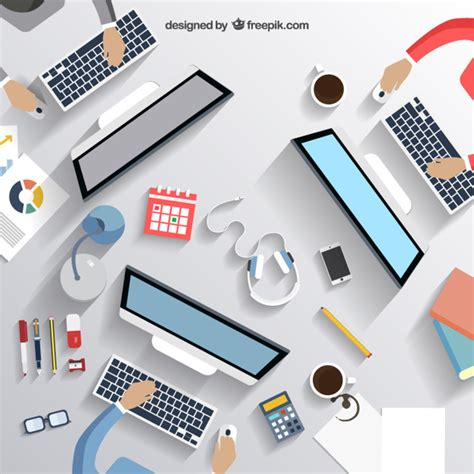 business office desk business desk vector free