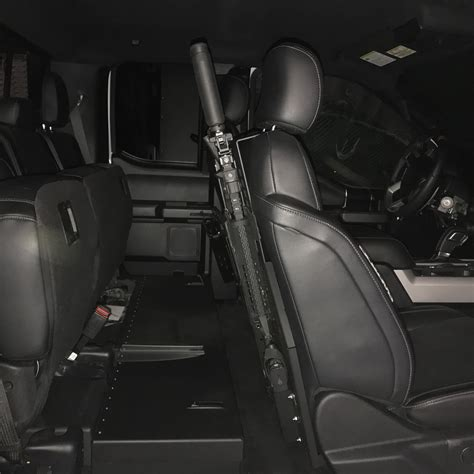 seat back mount gun mount and storage boxes for your guns and valuable items