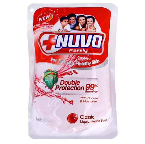 Nuvo Soap Refil 250ml jual sabun cair nuvo family refill 450ml wash costmart