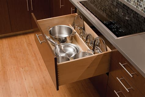 kitchen pan storage ideas pots pans storage cookware cabinets dura supreme cabinetry