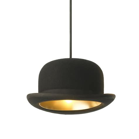 top hat table l modern black wool flt top hat bowler jeeves pendant light
