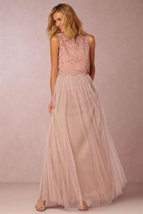 Tulle Top Dress 2016 pink lace top soft tulle bridesmaid