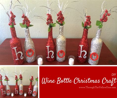 diy water bottle chrismast craft picture crafts wine edition pinot s palette