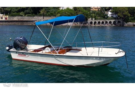 motorboat rental boston motorboat rent boston whaler 17 in porto di rapallo