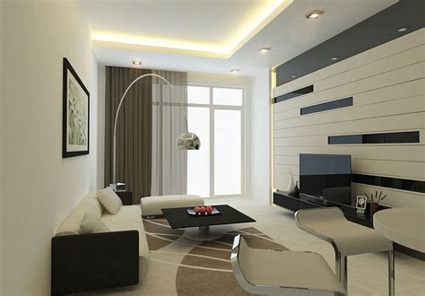 Modern Living Room Wall With Striped Decor Interior Living Room Wall Design