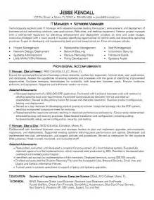 Technology Project Manager Sle Resume by Resume Exles It Resume Cv Cover Letter
