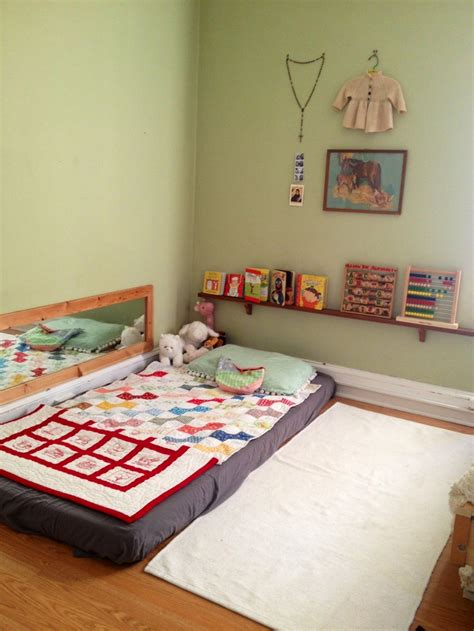 bed on floor ideas montessori floor bed rockrosewine