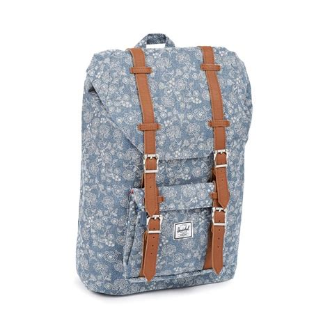 Original Herschel Classic Backpack Chambray herschel america mid volume backpack classic floral chambray 109 00 accessories