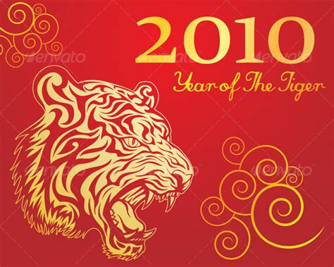new year tiger year of the tiger by kuzzie graphicriver