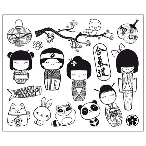 coloring pages kokeshi dolls kokeshi dolls coloring pages www pixshark com images