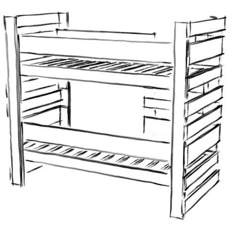 Bunk Bed Drawing Pin By Alkema On Woodworking For Everyone