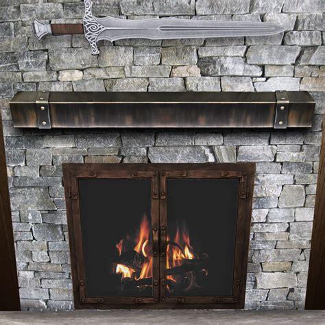 Steel Fireplace Mantel by Chesapeake Steel Fireplace Mantel Shelf