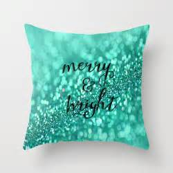 aqua throw pillows