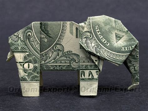 dollar bill elephant origami dollar bill origami elephant great gift from