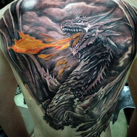 shaded dragon tattoo designs 60 back designs for breath of power