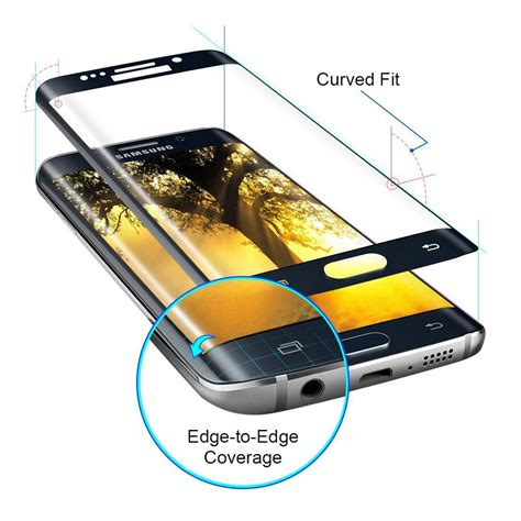 Grace Samsung S7 Flat Tempered Glass Pet 3d Cover Lis Putih clear 3d tempered glass screen protector samsung galaxy
