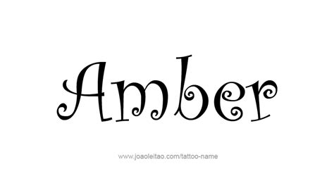tattoo ideas for the name amber tattoo design colors names amber 31 png