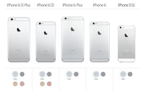 estas las diferencias entre el iphone 6s y el resto de la gama disponible