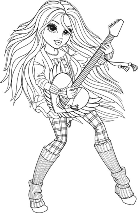 moxie girlz coloring pages10 coloring kids