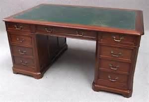 mahogany pedestal office desk