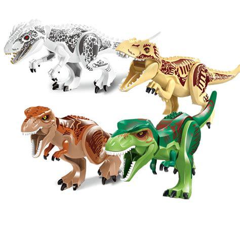 Jumper 1 Set Dino 2pcs sets jurassic dinosaur world figures tyrannosaurs rex building blocks compatible with lego