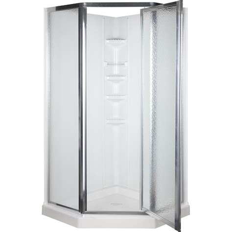 Shower Kit Lowes by Shop Aqua Glass 74 1 4 In H X 38 In W X 38 In L High Gloss