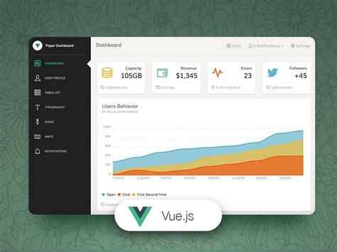 Vue Paper Dashboard Free Bootstrap Vue Js Admin Template Creative Tim Vue Js Website Template