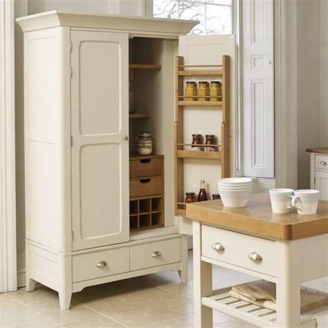 buy larder unit painted oak wood two tone pantry cupboard