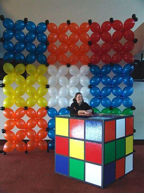 cube decorations rubix cube bar whoa 80s themed 35th pinterest