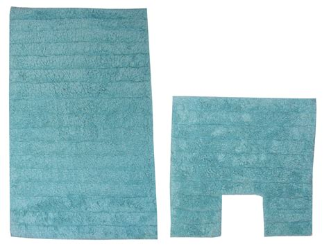 bath mat set 2 piece aqua bathroom pedestal toilet rug 100