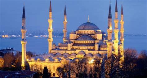 wallpaper biru masjid istanbul camileri