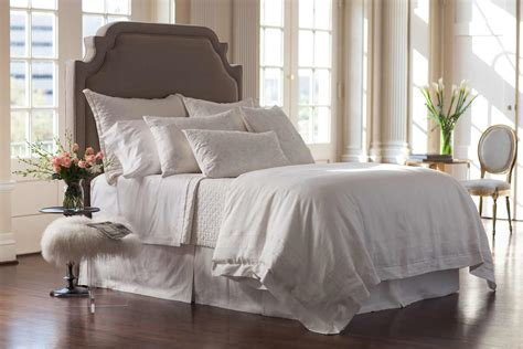 white bed coverlet lili alessandra casablanca white linen with white linen